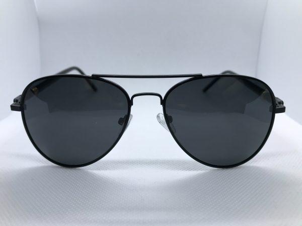 Zonnebril West-end Piloot bril heren zwart voorkant